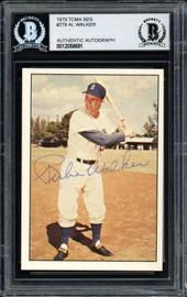 "Al ""Rube"" Walker Autographed 1979 TCMA Card #278 Brooklyn Dodgers Beckett BAS #12058691"