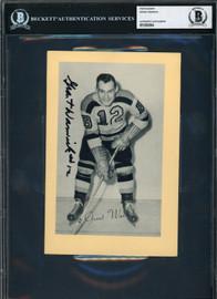 Grant Warwick Autographed 1944-63 5x7 Beehive Photo #73 Boston Bruins Beckett BAS #12060364