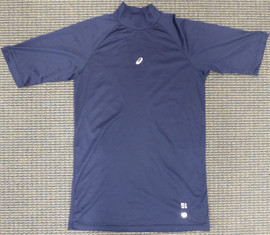 Unsigned Ichiro Suzuki Seattle Mariners Navy Short Sleeve Game Used Asics Under Shirt IS Holo Stock #175770