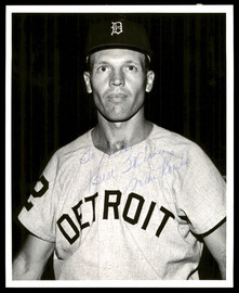 """Mike Roarke Autographed 8x10 Photo Detroit Tigers """"To Mike, Best Wishes"""" Vintage SKU #175814"""