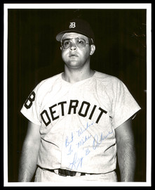 """Larry """"Bo"""" Osborne Autographed 8x10 Photo Detroit Tigers """"To Mike, Best Wishes"""" Vintage SKU #175816"""