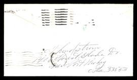 "Fred ""Freddie"" Lindstrom Autographed 3.5x6.5 Envelope Cincinnati Reds SKU #175894"