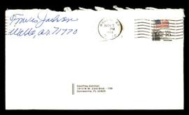 Travis Jackson Autographed 3.5x6.5 Envelope New York Giants SKU #175896