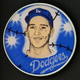 Sandy Koufax 1960 Los Angeles Dodgers 3D Motion Button SKU #175949