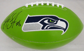 Josh Gordon Autographed Green Seattle Seahawks Logo Football MCS Holo Stock #176320