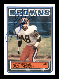 Lawrence Johnson Autographed 1983 Topps Rookie Card #251 Cleveland Browns SKU #176067
