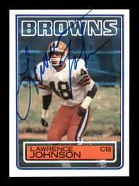 Lawrence Johnson Autographed 1983 Topps Rookie Card #251 Cleveland Browns SKU #176069