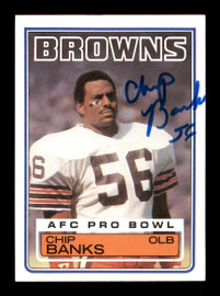 Chip Banks Autographed 1983 Topps Rookie Card #245 Cleveland Browns SKU #176076