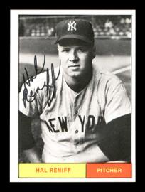 Hal Reniff Autographed 1986 1961 New York Yankees Renata Galasso Black & White Card #28 SKU #176212