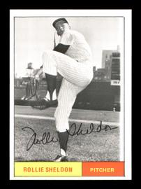 Rollie Sheldon Autographed 1986 1961 New York Yankees Renata Galasso Black & White Card #23 SKU #176217