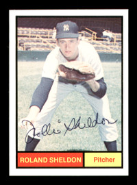 Rollie Sheldon Autographed 1982 1961 New York Yankees Renata Galasso Color Card #19 SKU #176232