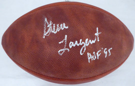 "Steve Largent Autographed NFL Leather Football Seattle Seahawks ""HOF 95"" (Smudge) PSA/DNA #6A14895"