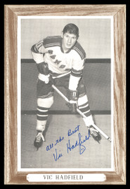 """Vic Hadfield Autographed 1964-67 Beehive Group 3 4.5x6.5 Photo New York Rangers """"All The Best"""" SKU #176418"""