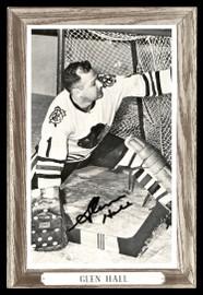 Glenn Hall Autographed 1964-67 Beehive Group 3 4.5x6.5 Photo Chicago Blackhawks SKU #176459