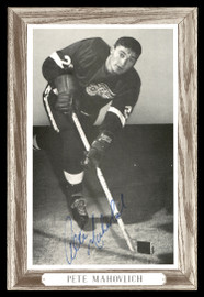 Pete Mahovlich Autographed 1964-67 Beehive Group 3 4.5x6.5 Photo Detroit Red Wings SKU #176477