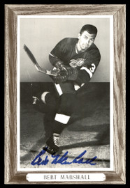 Bert Marshall Autographed 1964-67 Beehive Group 3 4.5x6.5 Photo Detroit Red Wings SKU #176481