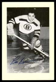 Leo Boivin Autographed 1944-63 Beehive Group 2 4.5x6.5 Photo Boston Bruins SKU #176736