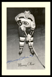 Murray Oliver Autographed 1944-63 Beehive Group 2 4.5x6.5 Photo Boston Bruins SKU #176765