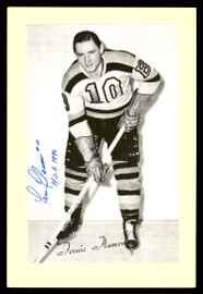 "Fern Flaman Autographed 1944-63 Beehive Group 2 4.5x6.5 Photo Boston Bruins ""HOF 1990"" SKU #176781"