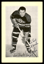 """Lee Fogolin Sr. Autographed 1944-63 Beehive Group 2 4.5x6.5 Photo Chicago Blackhawks """"To Paul Best Wishes"""" SKU #176808"""