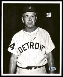 "George Myatt Autographed 8x10 Photo Detroit Tigers ""Best Wishes"" Vintage Signature Beckett BAS #T55035"