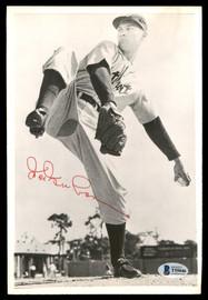 Hal Newhouser Autographed 6.5x9.5 Photo Detroit Tigers Vintage Signature Beckett BAS #T55046