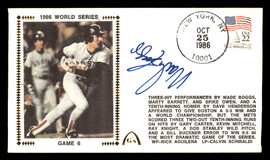 Wade Boggs Autographed First Day Cover Boston Red Sox 1986 World Series SKU #177077