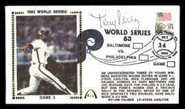 Tony Perez Autographed First Day Cover Philadelphia Phillies 1983 World Series SKU #177086