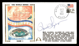 Rollie Fingers Autographed First Day Cover Milwaukee Brewers 1982 World Series SKU #177089
