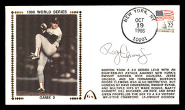 Roger Clemens Autographed First Day Cover Boston Red Sox 1986 World Series SKU #177099