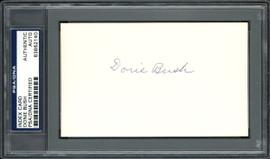 "Joseph ""Donie"" Bush Autographed 3x5 Index Card Detroit Tigers, Pittsburgh Pirates PSA/DNA #83862140"