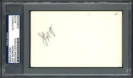 Joe Morgan Autographed 3x5 Index Card Cincinnati Reds PSA/DNA #83862226