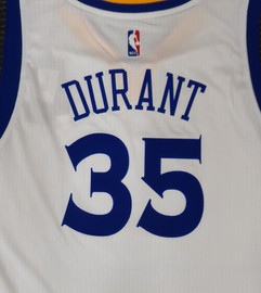 Kevin Durant Unsigned Golden State Warriors White Adidas Swingman Jersey Size XL Stock #177418