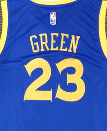 Draymond Green Unsigned Golden State Warriors Blue Adidas Swingman Jersey Size L Stock #177423