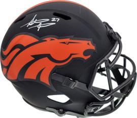 Steve Atwater Autographed Denver Broncos Black Eclipse Full Size Speed Replica Helmet Beckett BAS Stock #177484
