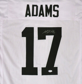 Green Bay Packers Davante Adams Autographed White Jersey Beckett BAS Stock #177494