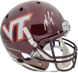 Michael Vick Autographed Virginia Tech Hokies Full Size Replica Helmet Beckett BAS Stock #177521