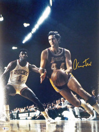 Jerry West Autographed 16x20 Photo Los Angeles Lakers Beckett BAS Stock #177524