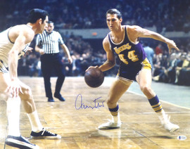 Jerry West Autographed 16x20 Photo Los Angeles Lakers Beckett BAS Stock #177526