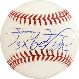 "Sammy Sosa Autographed Official MLB Baseball Chicago Cubs ""3x 60 HR"" Beckett BAS Stock #177579"