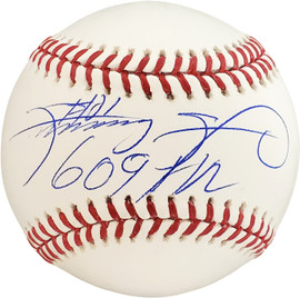 "Sammy Sosa Autographed Official MLB Baseball Chicago Cubs ""609 HR"" Beckett BAS Stock #177580"