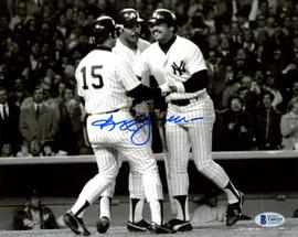 Reggie Jackson Autographed 8x10 Photo New York Yankees Home Run Beckett BAS Stock #177601