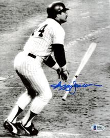 Reggie Jackson Autographed 8x10 Photo New York Yankees Beckett BAS Stock #177603