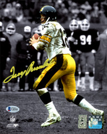 Terry Bradshaw Autographed 8x10 Photo Pittsburgh Steelers Beckett BAS Stock #177613