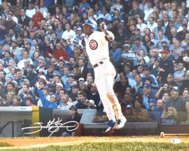 Sammy Sosa Autographed 16x20 Photo Chicago Cubs Beckett BAS Stock #177691