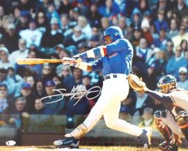 Sammy Sosa Autographed 16x20 Photo Chicago Cubs Beckett BAS Stock #177692