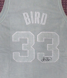 Boston Celtics Larry Bird Autographed Green Mitchell & Ness Washed Out Swingman Jersey Size XL Beckett BAS Stock #177711