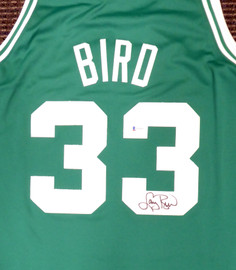 Boston Celtics Larry Bird Autographed Authentic Green Mitchell & Ness Jersey Size XL Beckett BAS Stock #177713