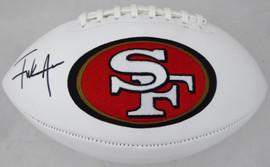 Frank Gore Autographed San Francisco 49ers White Logo Football Beckett BAS Stock #177844