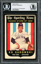 Ed Sadowski Autographed 1959 Topps Rookie Card #139 Boston Red Sox Beckett BAS #12305952